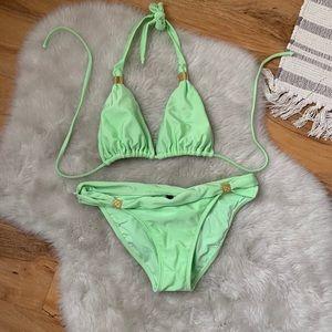 Vix Green Bikini Top & Bottom